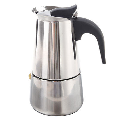 100ML Stainless Steel Coffee Maker Percolator Stove Top Pot D7G8