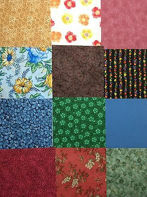 200 pk.Cotton Quilting Fabric Scrappy Charm pack 5 inch squares