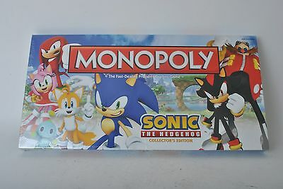 NIB Sonic The Hedgehog Monopoly Collector's Edition Sealed