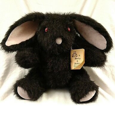 Bentley and Buddies by Artist Nancy Dane Bear Black Bunny Rabbit One of a Kind