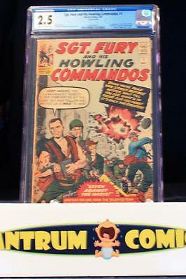 Sgt Fury & His Howling Commandos #1 CGC 2.5 - 1963 KEY! 1st app of Sgt Nick Fury