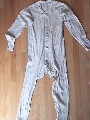 Men's Vintage One Pc Long Johns/Underwear/Globe Tailor Made Trowserseat Size 40