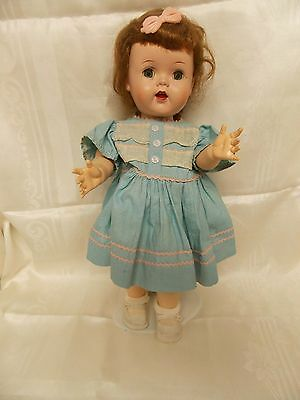"""Ideal Doll 16"""" Saucy Walker W 16 -Cries/Brown Hair Clothes/Shoes"""