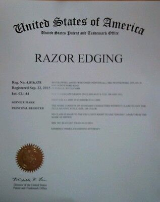 Business & Trademark for Razor Edging®
