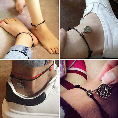 12 Constellation Anklet Ankle Bracelet Barefoot Sandal Beach Foot Chain Jewelry