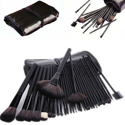 Kabuki 32pcs Professional Soft Make-up Eyebrow Shadow Makeup Brush Set Kit Case