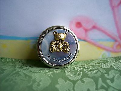 NEW in Box - GODINGER Bear First Curl Box for Baby, Gold Accent, Nickel Plated