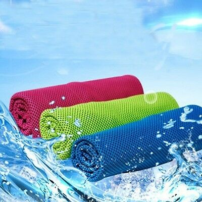 Summer Color Ice Cold Towel Sports Outdoor Fitness Heatstroke Cold Towel Sale