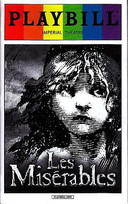 Les Miserables Gay Pride Playbill New York City Broadway June 2015 Limited Issue