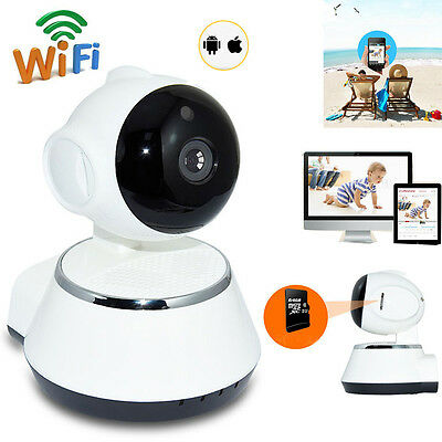 Wireless WIFI HD HD 720P IP Camera Indoor Security Pan/Tilt IR Night Vision UK