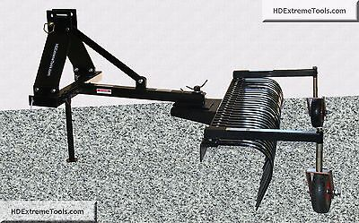 HDExtremeTools 5' Landscape Rake with Automatic Built in Float