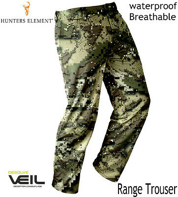 Hunters Element Mens RANGE Waterproof breathable Hunting VEIL Camo Trousers