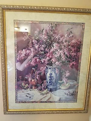 Homco home interior large floral picture