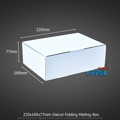 20 220x160x77mm Mailing Box A5 BX1 Size Shipping Carton * Diecut Light Solid