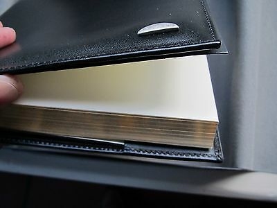 Piquadro Tide black leather refillable A5 lined journal AS212TI/N