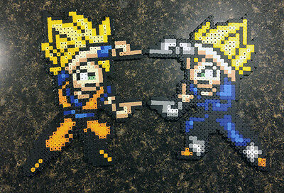Perler Bead Art - Goku and Vegeta Fusion Dance (DBZ)