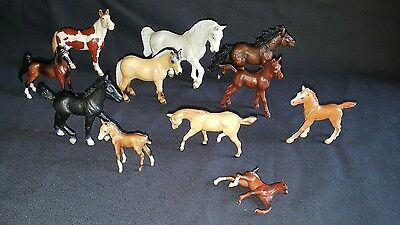 Mix Lot of Breyer and Schleich Horse Different sizes.