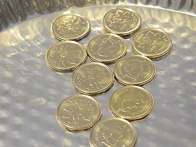 Gem BU Uncirculated 2011 Canada One Cent Silver Toned(1 From This Lot)