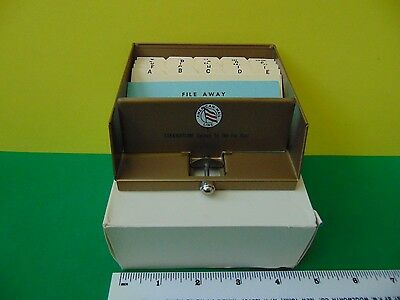 Rare American Mail Line Brass Metal Business Card Organizer by Tarco New in box
