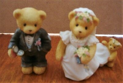 Wedding Bears Cake Toppers by Cherished Teddies