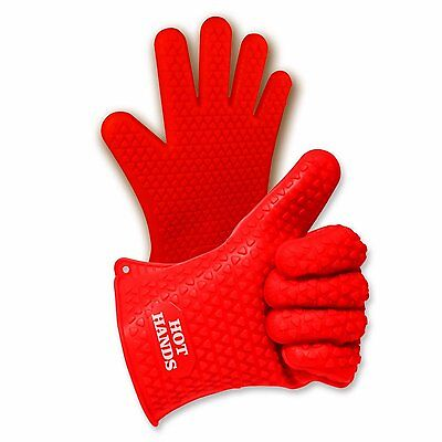 Hot Hands Heat Resistant Silicone Gloves Mitts for Grilling, BBQ, Kitchen, Pots,