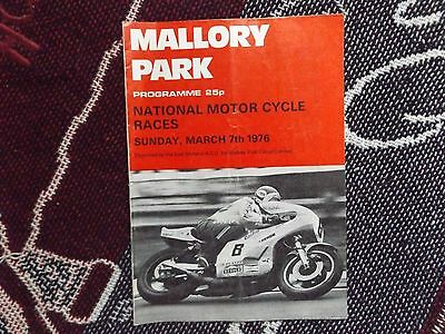 1976 Mallory Park Programme 7/3/76 - National Races - Percy Tait Cover