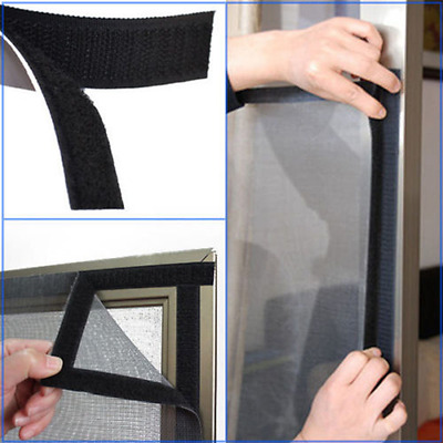 Self Adhesive Sticky Backed Hook and Loop Tape, Black
