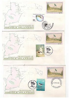 Cocos Islands 2007/08 Group of Covers ( 3 Covers )