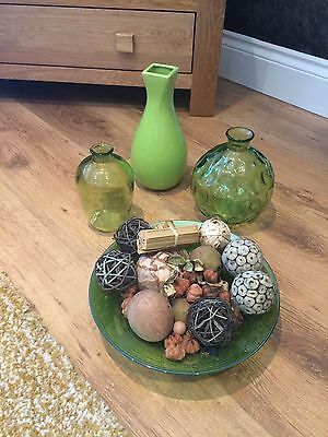 Glass ornaments in green from NEXT 4 Items