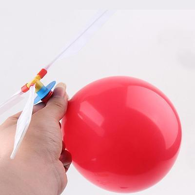 Balloon Helicopter Flying Toy Outdoor Play Kid Airplane UFO Frisbee Boomerang YY