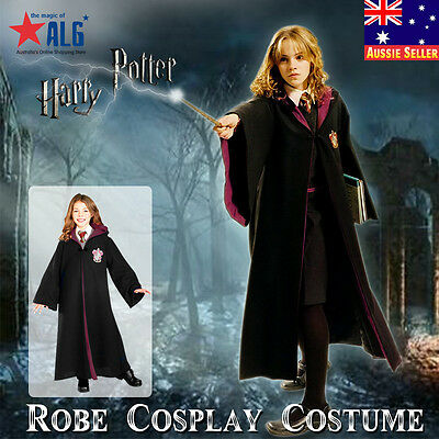 NEW Harry Potter Gryffindor CHILD Costume Robe Cloak Kid Cosplay Fancy Dress