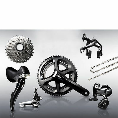 Shimano 105 5800 11 Speed Groupset - Black - 52/36 - Cycling Components