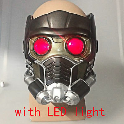 Star Lord Maske Guardians  Galaxy  LED Brille PVC Cosplay Halloween Peter Quill
