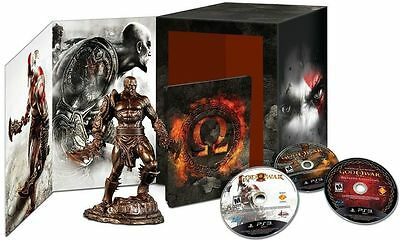 God Of War Omega Limited Collection Ps3 Kratos Statue Sideshow And 5 Games Gow