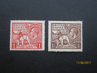 Gb Stamps Kgv - Sg430 - Sg431 - Wembley Pair - Fine Mint Mh