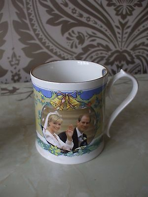 Royal Commemorative Aynsley Bone China Mug Sophie & Prince Edward Wedding