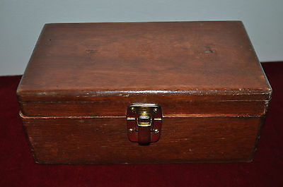 Antique Vintage Wood Hand Madehinged/memory/ Stationary/jewellery/trinket Box