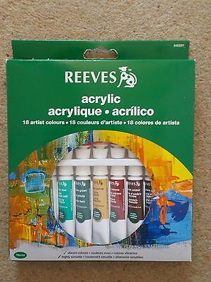 Reeves - Acrylic Artist Colours - New - 18 x 10ml Tubes