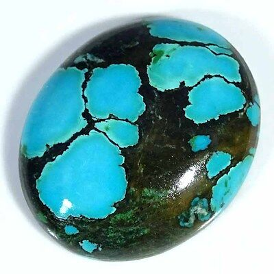29.30Cts 100% NATURAL DESIGNER TIBET TURQUOISE OVAL CABOCHON UNTREATED GEMSTONE
