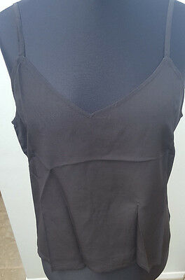 Vintage Camisole Top Black Silk - Adini (New Not Worn) Size (S)