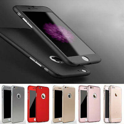 Shockproof Hybrid 360° Case Tempered Glass CaseFor Apple iPhone 6 6Plus 7 7 Plus