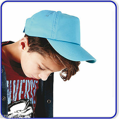 Beechfield Boys Girls School Plain Summer Junior Kids Baseball Cap Hat B10B