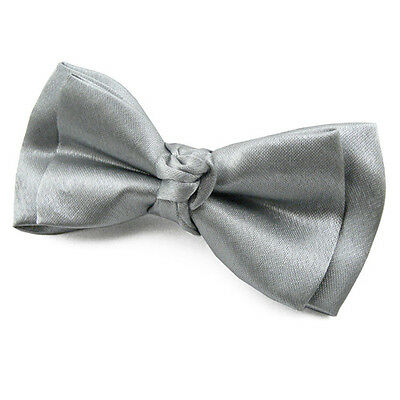 Fabriqué en France Noeud Papillon pour Enfant Satin Gris - Children Bowtie Grey