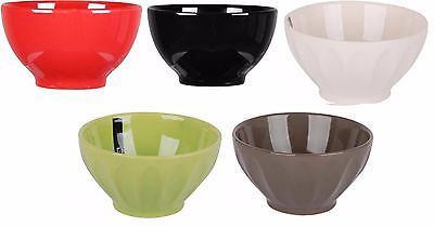 Set of 4 Cereal Bowls Breakfast Soup Bowls In Green Black Red Cream Taupe