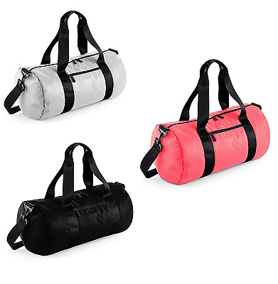 Studio Barrel Bag Packaway Holiday Travel Holdall Sport Gym Shoulder Bag