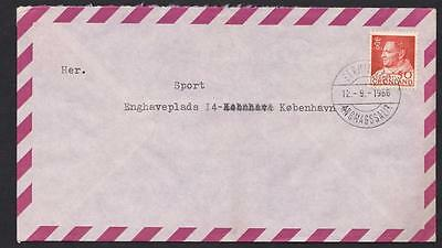 GROENLAND Letter used  year 1966 to Copehagen