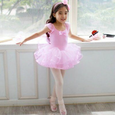 Infant Girls Kids Cotton Ballet Leotard Tutu Dress Skating Dancewear Skirt Dress