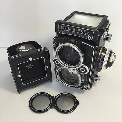 ROLLEIFLEX 2.8F CAMERA - K7F METERED with ZEISS PLANAR 2.8F 80MM LENS
