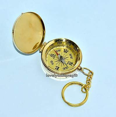 Antique Brass Collectible Marine Camping Compass Vintage Nautical Compass