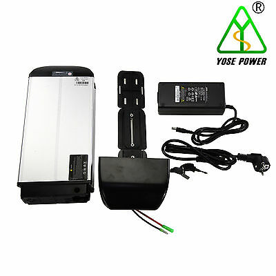 36v13.2ah e- bike lithium-ion rear battery (18650 cells, 22P)+Charger